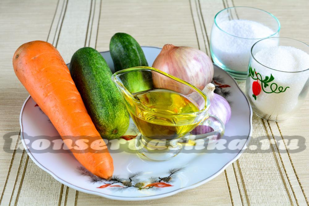 10 лучших рецептов салатов из огурцов на зиму