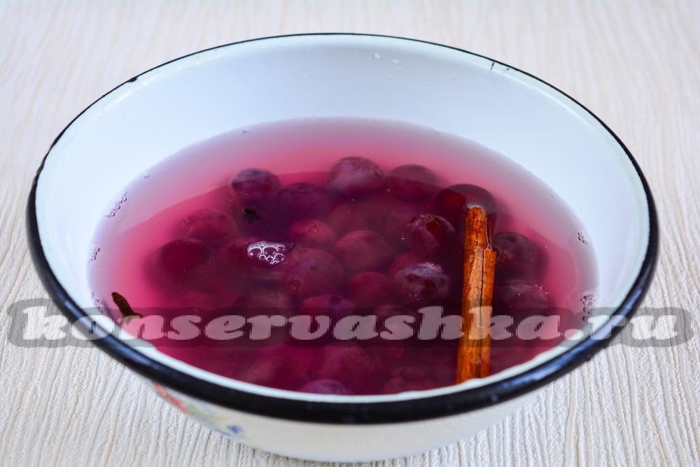 Компот из винограда пошаговый рецепт с картинками