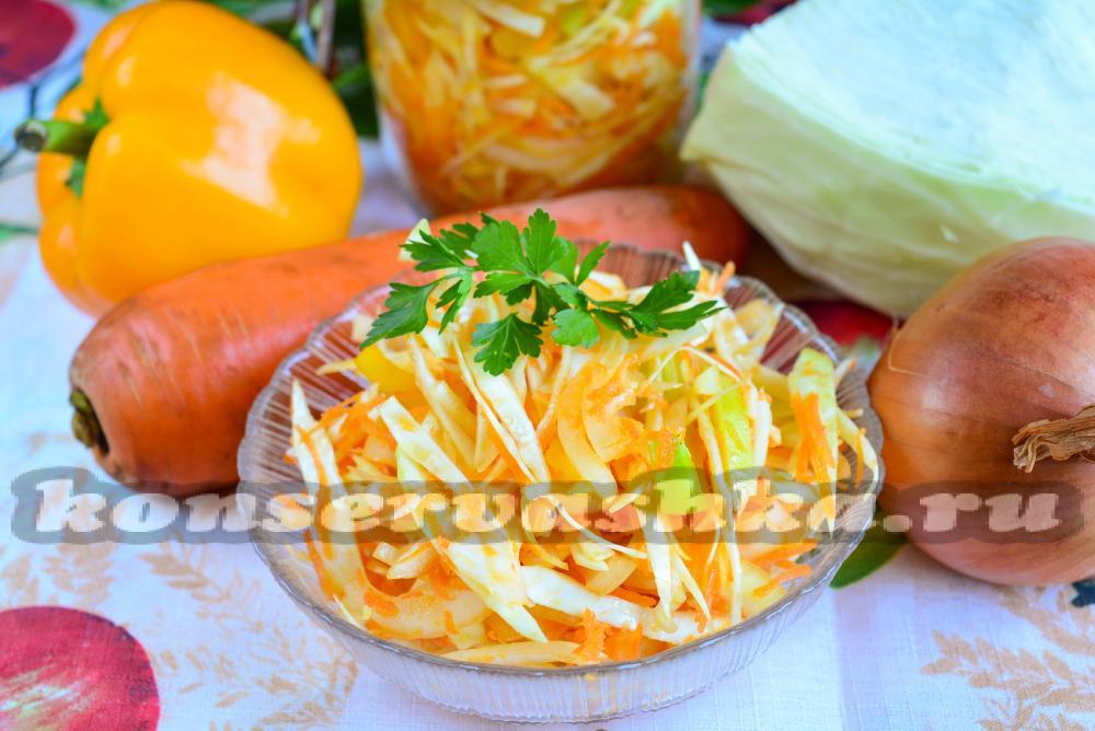 Как сделать салат капуста морковь и перец 281