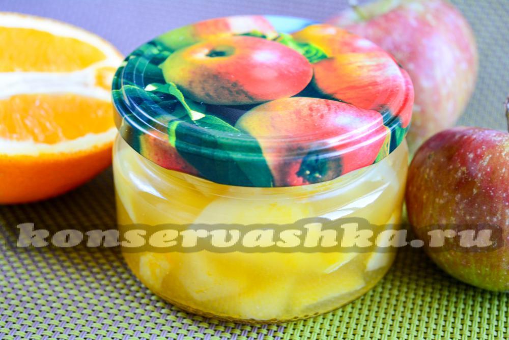 яблочное варенье с апельсином рецепт с фото
