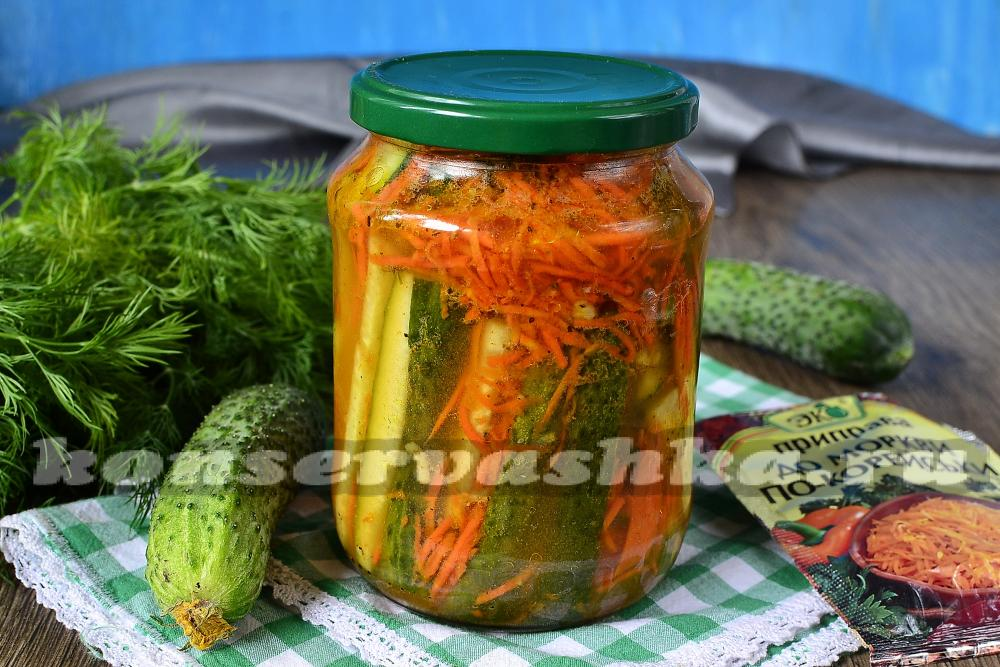 Салат с морковью и огурцами на зиму рецепты с