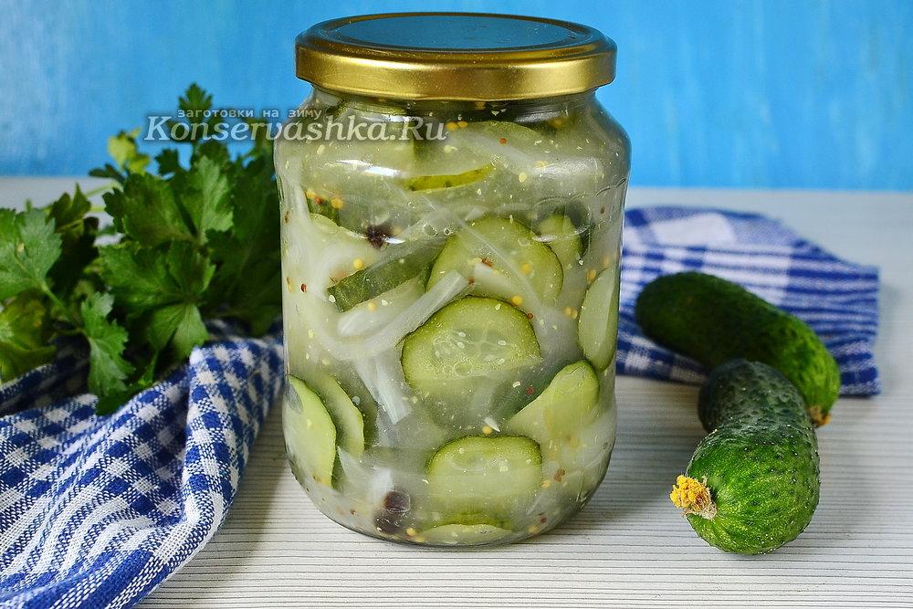 Огурцы салаты на зиму без стерилизации с