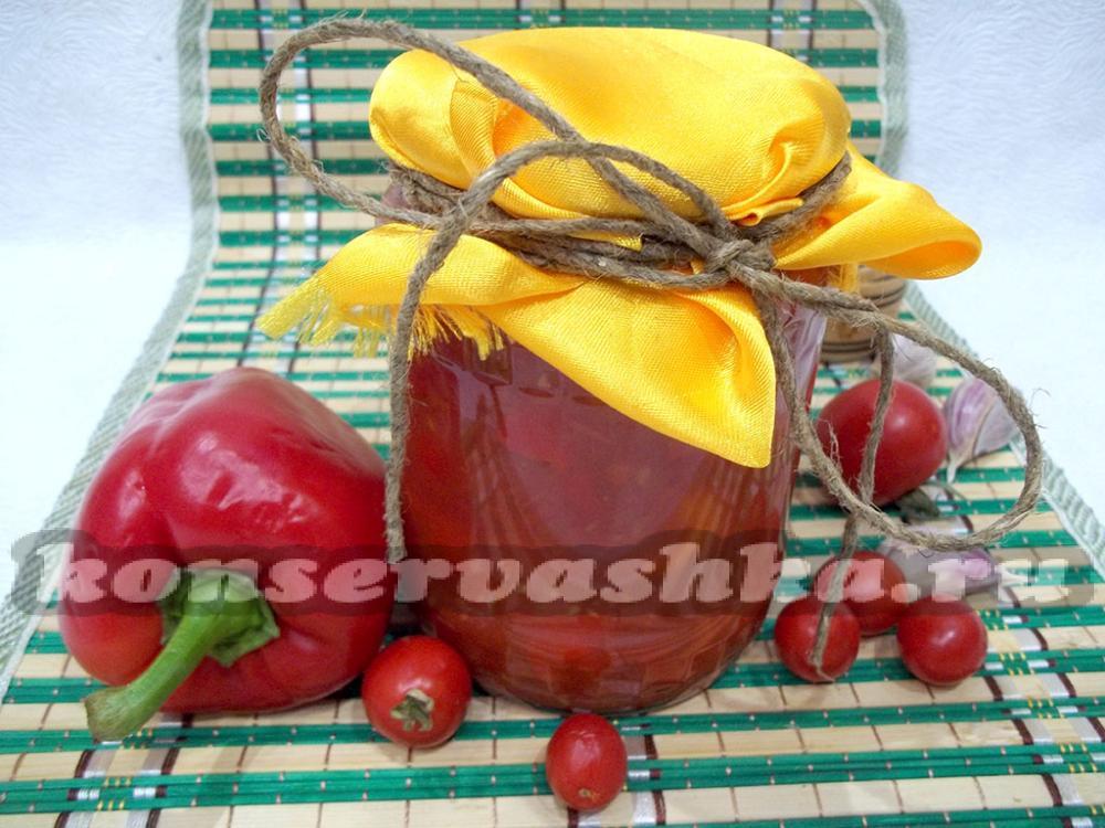 Закуска на зиму из болгарского перца и капусты