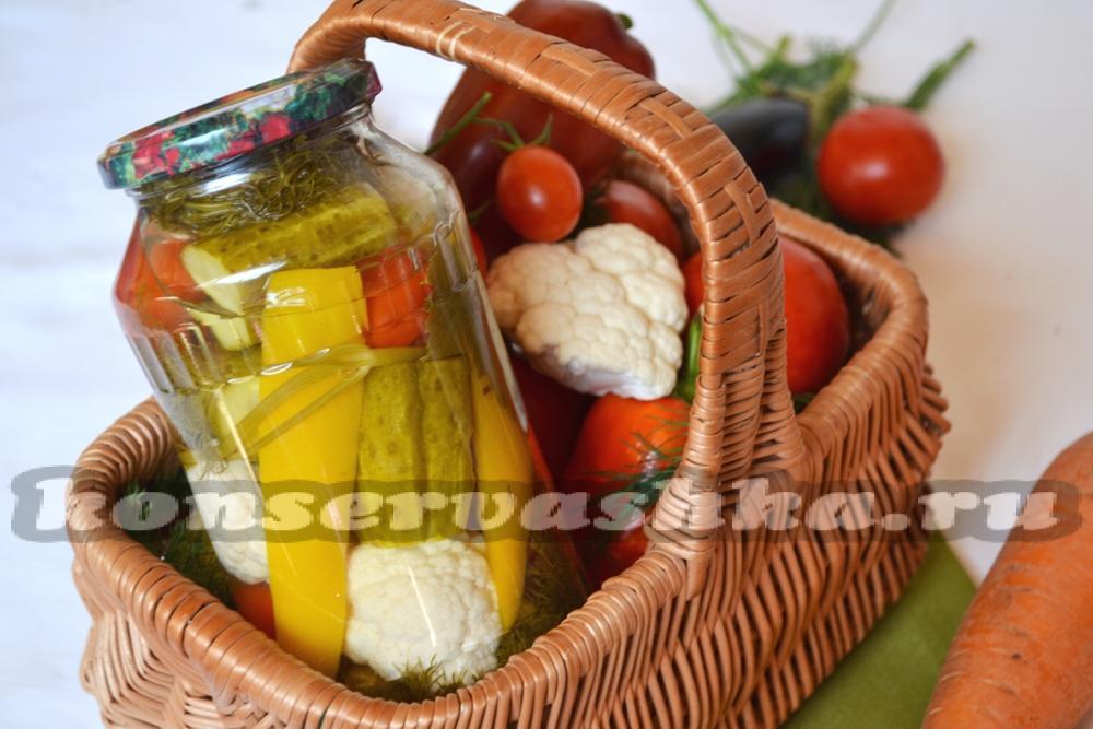 рецепты приготовления цветной капусты на зиму с фото