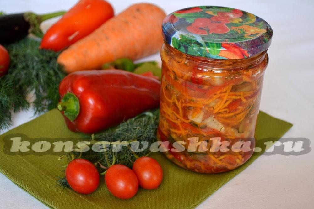 салат из огурцов и с морковью на зиму рецепты