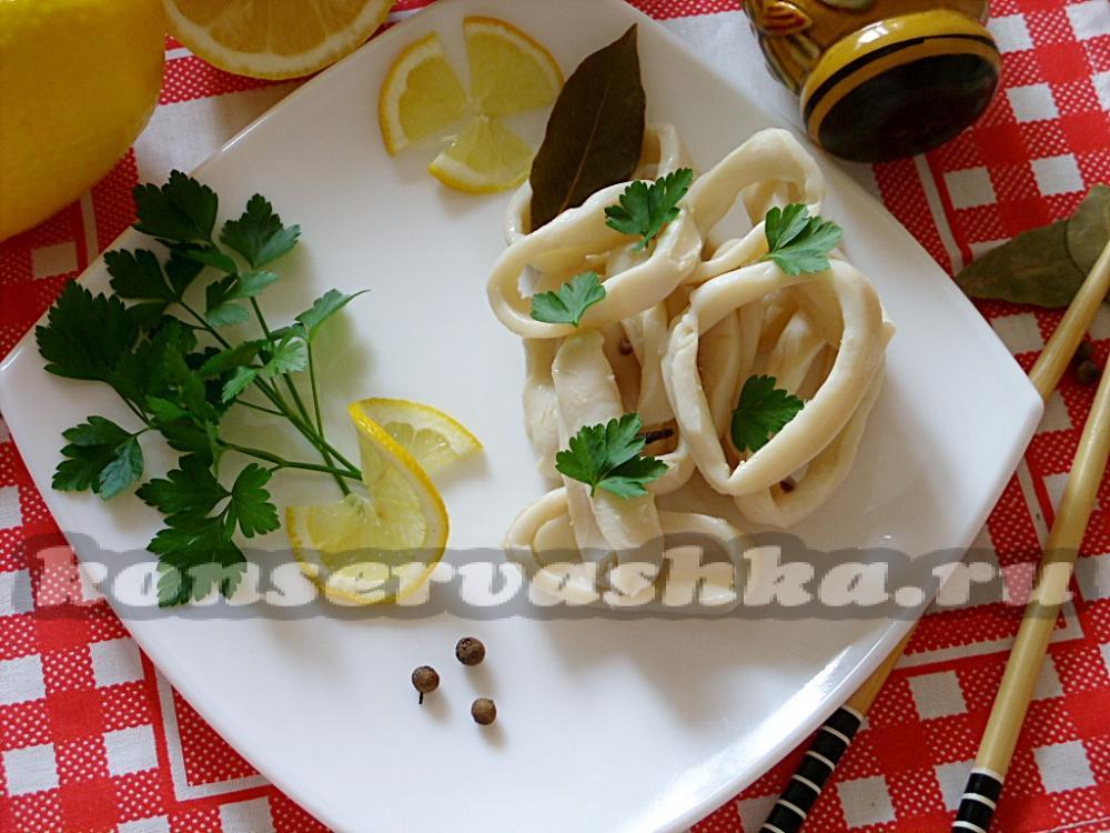 Маринованные кальмаров рецепт очень вкусный