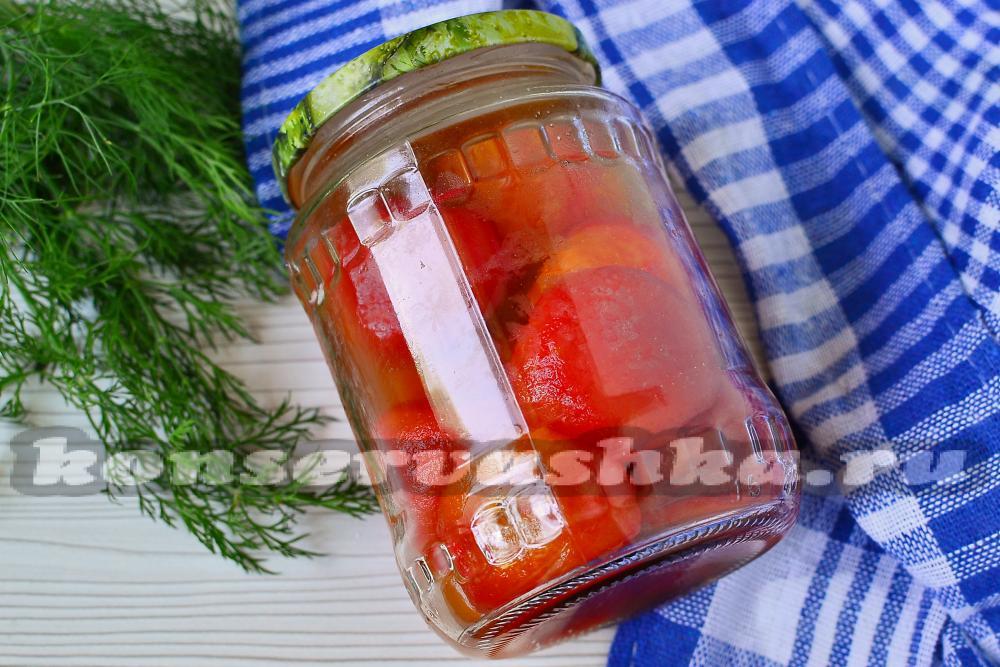 Помидоры в томатном соку на зимуы