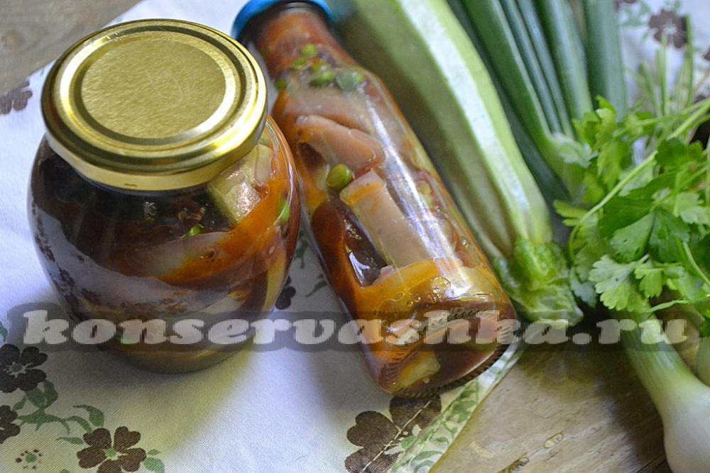 Салат на зиму сладкий перец морковь лук