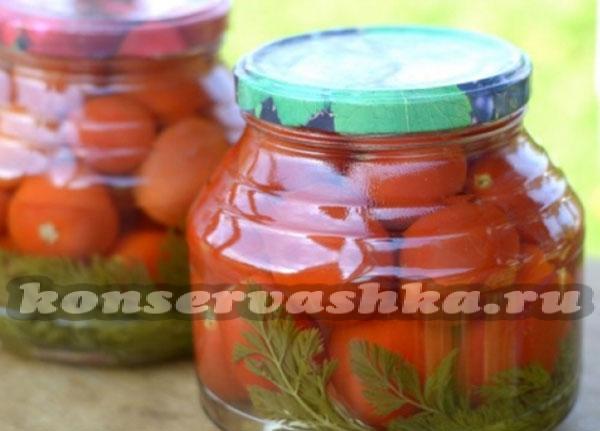 маринованные помидоры салат на зиму рецепты