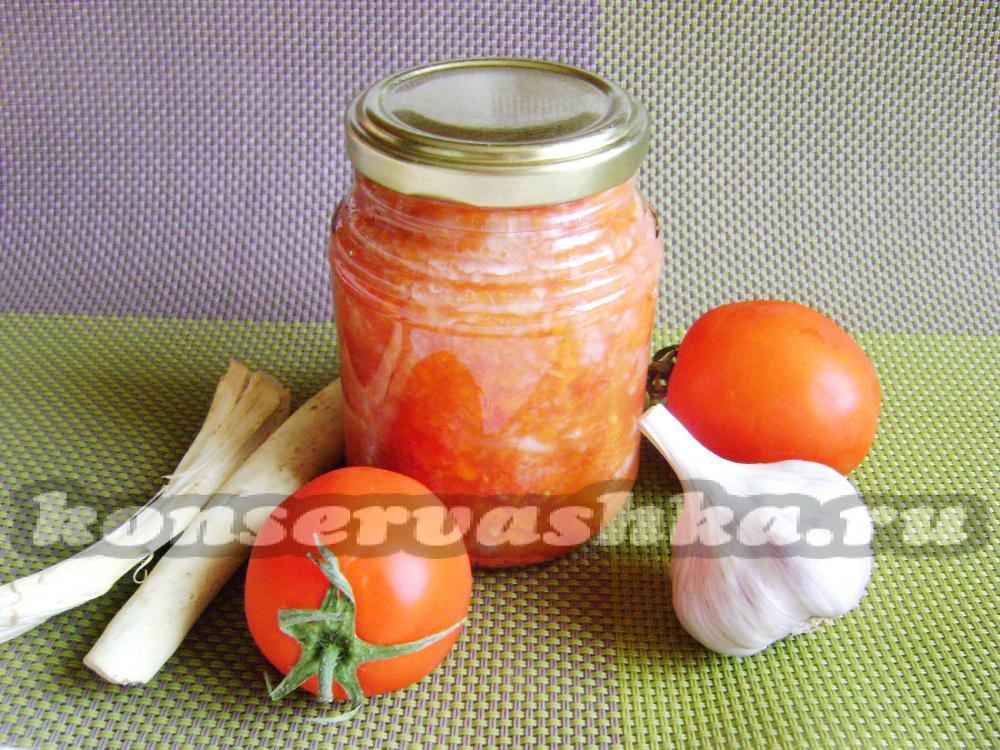 цветная капуста с кетчупом чили на зиму