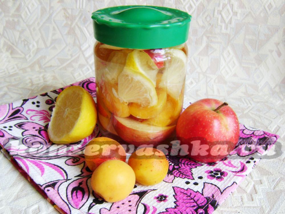 консервированные яблоки фото
