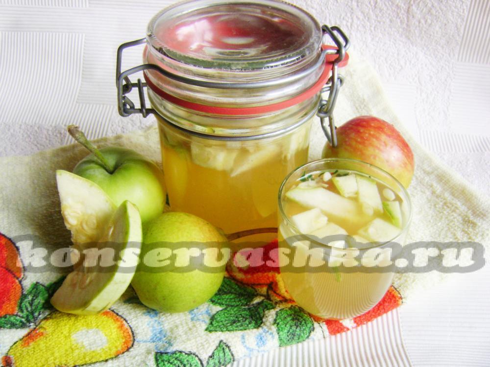 Компот из яблок на зиму с пошагово