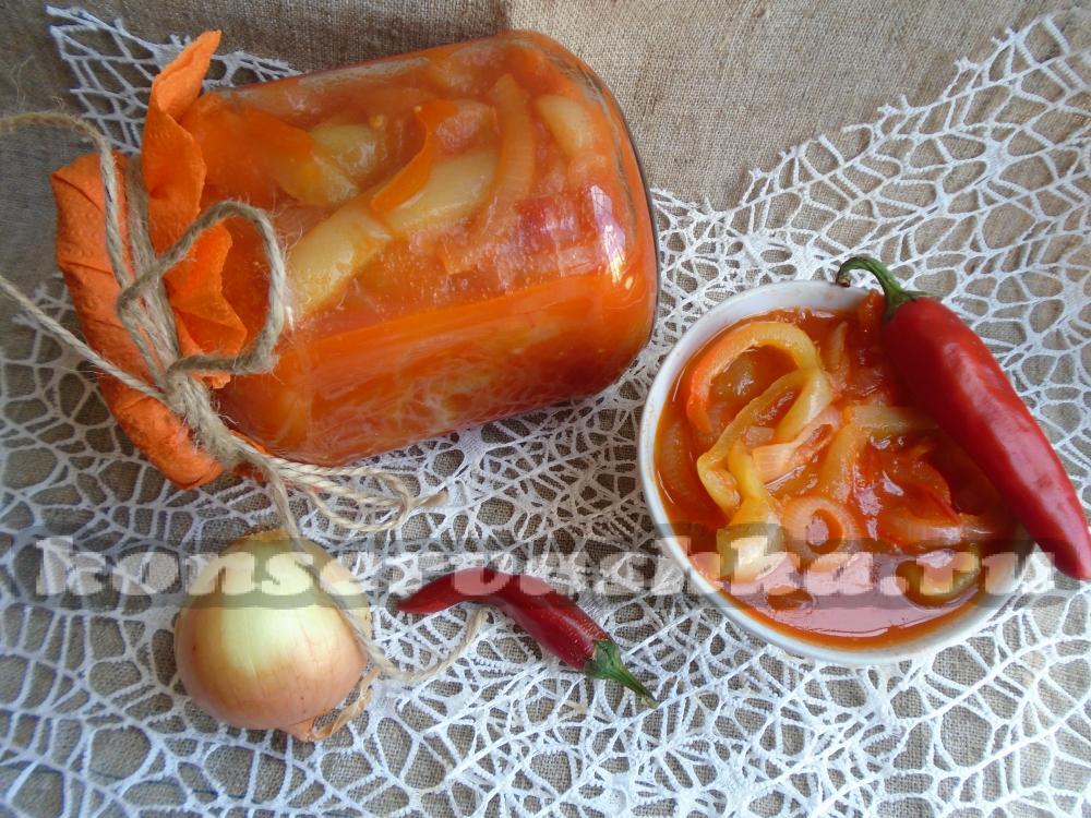 Салат из помидоров и баклажанов заготовки на зиму