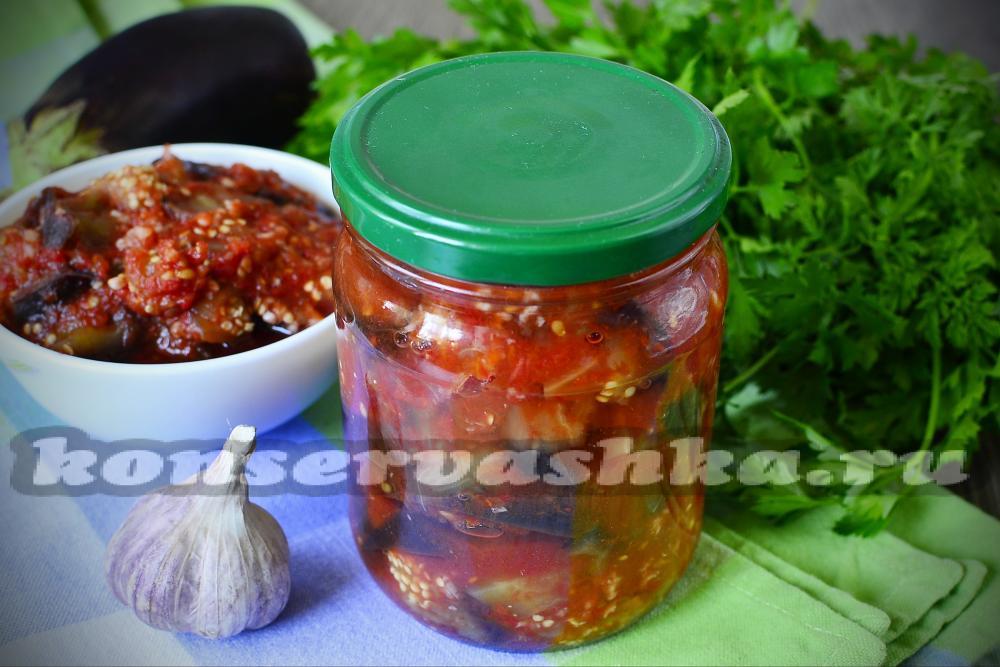 жареные баклажаны в томате на зиму рецепты приготовления