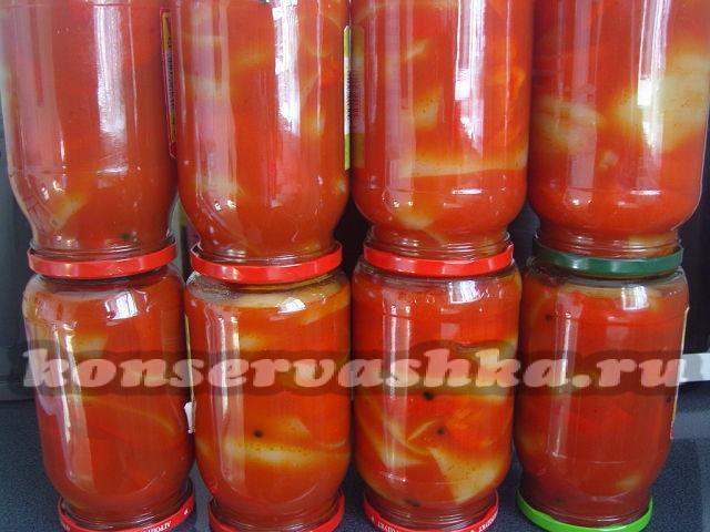 лечо на зиму рецепты приготовления с томатным соком