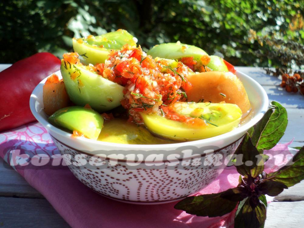 зеленые помидоры армянчики рецепт быстрого приготовления