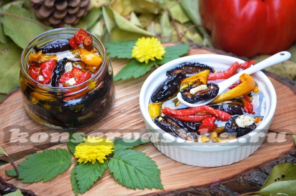 Острая закуска на зиму с болгарским перцем