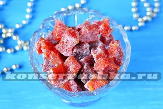 рецепт ароматных цукатов из тыквы