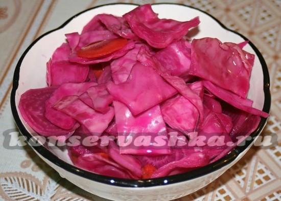Маринованная капуста за 2 часа рецепт