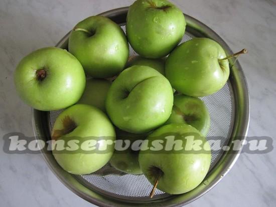 яблоки промыть