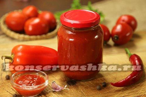 Соус томатный острый на зиму рецепты